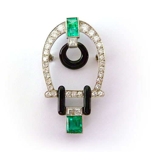 | B-0722 Platinum Art Deco Brooch
