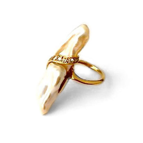R-0093 Baroque pearl ring