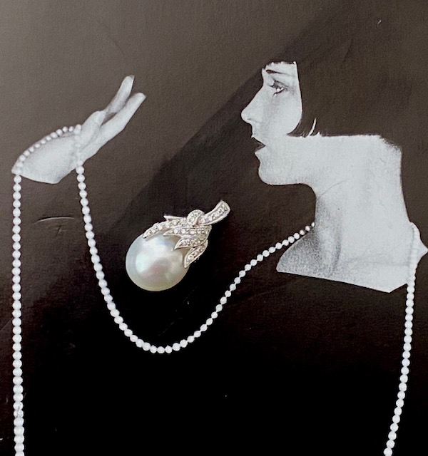 H-0249 Pearl and Diamond Pendant
