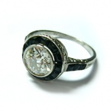 R-0441 Onyx and diamond ring